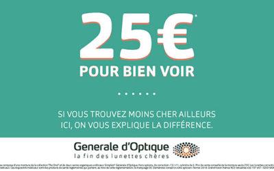 Générale d'Optique : Offre 25€ !