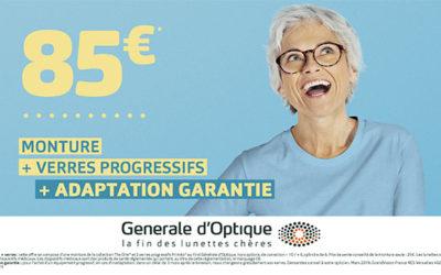 Générale d'Optique : 85€ !
