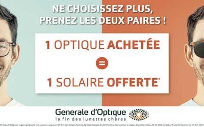Générale d'optique vous offre vos solaires*