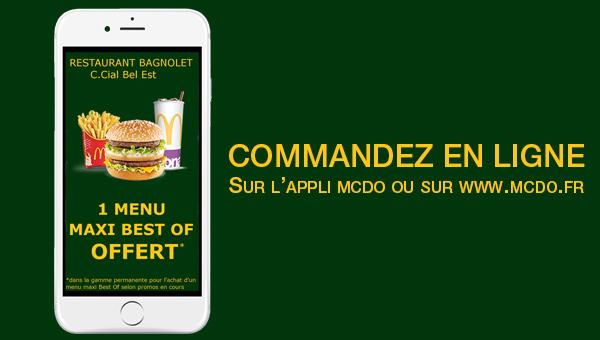 Un Menu offert chez McDonald's Bagnolet !