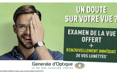 L'offre exceptionnelle de Générale d'Optique !